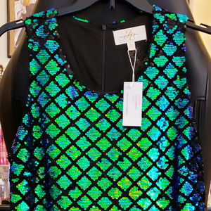 Green Mermaid Sequin Dress NWT